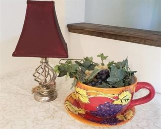 Tea Cup Planter and Lamp