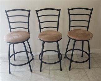 (3) Matching Barstools ~ 24 in. Seat Height