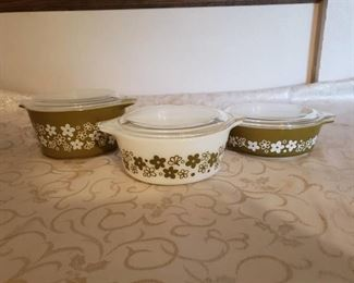 3 Vintage Pyrex Baking and Microwave Dishes with Ladson Excellent Condition