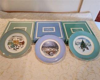 3 Avon Plates