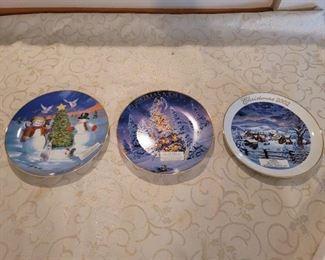 3 Avon Christmas Plates