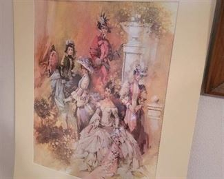 Avon Lithograph Print 26.5 inch by 22 inch
