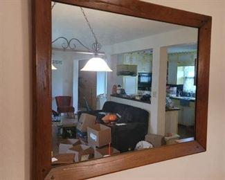 Heavy Wood Framed Mirror 41in. x 43 in.