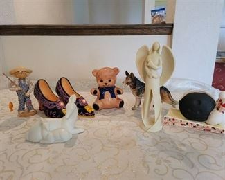 Figurines~ Angel, Deer, Shoes and More