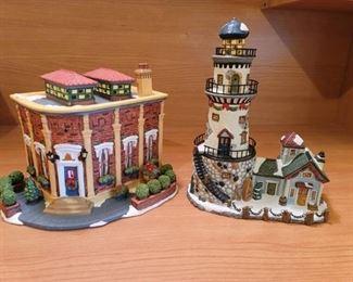 Santa's Workbench Village ~ Cornerstone Cafe and Whitecliff Bay Lighthouse