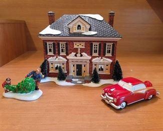 Dept 56 Snow Village~ Richmond Holiday House with Dad's Little Helper