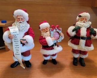 3 Clothtique Santas