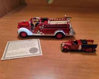 Bedford Falls Fire Truck and No. 1 Truck