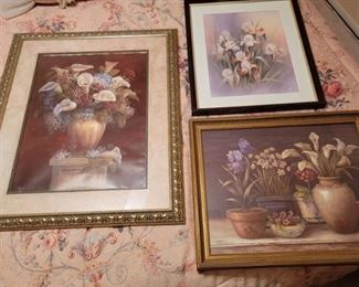 3 Victorian Framed Pictures