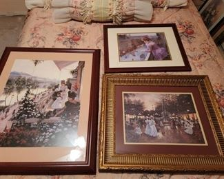 3 Framed Victorian Pictures