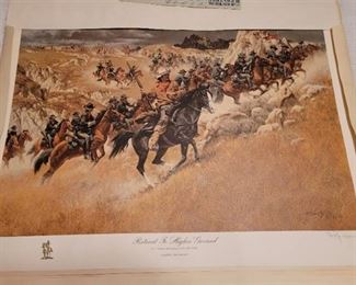 Limited Edition Print - Frank C McCarthy - signed print 25 of 1000 - Retreat To Higher Ground - U.S. Cavalry skirmishes in the mid 1880's