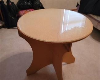 Round Accent Table~ Just add your own tablecloth
