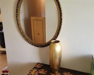 Mirror, Vase and Wall Decor