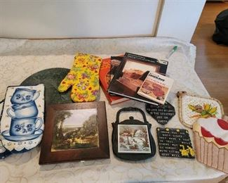 Trivet's, Cookbooks, Oven Mitts, Kitchen Towels