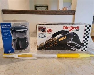 New Dirt Devil 500 and New Personal Coffee Maker