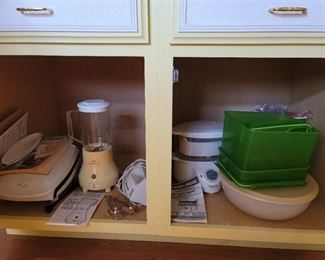 George Foreman, Blender, Mixer, Steamer, Crock pot, storage containers