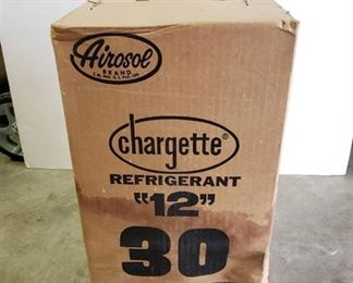Airosol Chargette Refrigerant 12 ~ 30 LB. Disposable Cylinder ~ Never opened