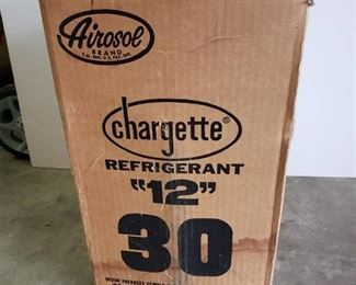 Airosol Chargette Regrigerant 12 ~ 30 LB. Disposable Cylinder ~ Box is opened but seal is in place