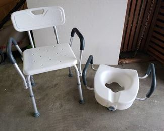 Shower chair and Toilet Riser