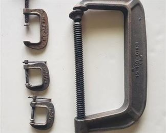 8 in. C-clamp and (3) small C-clamps