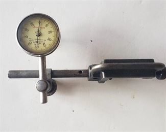 STARRETT No. 196 DIAL INDICATOR with clamp