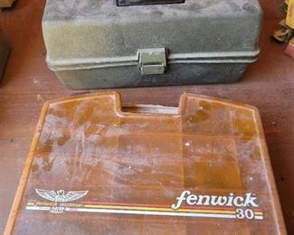 2 Plastic Tackle Boxes with Contents