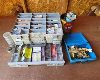 Tackle Box with Contents and Other Items Pictured
