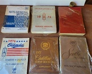 1975 and 1976 GM, Oldsmobile, Cadillac Service Manuals