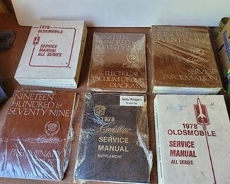 1978 and 1979 Oldsmobile and Cadillac Service Manuals