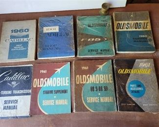 1960 and 1961 Cadillac and Oldsmobile Service Manuals