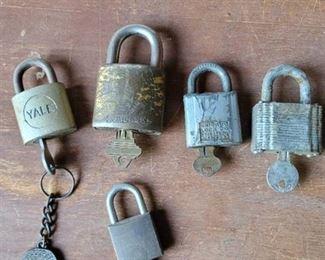 Old Pad Locks with Keys