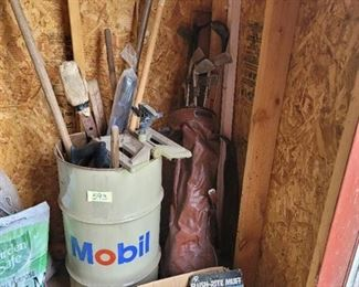 All Items In Corner of Shed
