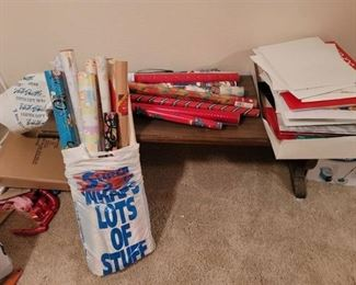 Christmas Wrapping Paper and Boxes
