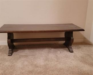 Vintage Coffee Table in basement