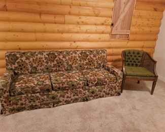 Vintage Sofa and Chair. Located in Walkout basement.