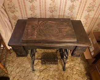 Vintage New Wilson Sewing Machine in Cabinet