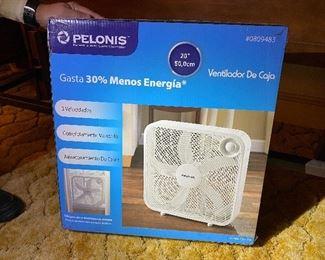 Pelonis Window/Indoor Fan - New in Box