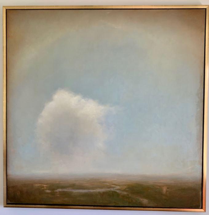 """109. Oil on Canvas by Adriano Farinella w/ Custom Frame (62"""" x 62"""")"""