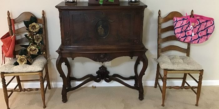 Absolutely Beautiful 1920's Music Cabinet