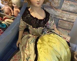 Antique Boudoir Doll