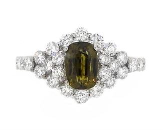 1.41ct Alexandrite & 1.06ct Diamond Ring