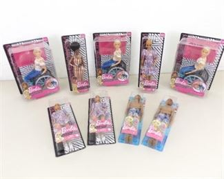 Lot of Rarer Collectible New in Box Barbie Fashionistas