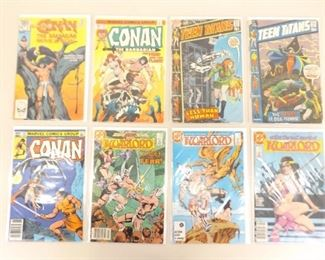Lot of 8 Vintage Bagged and Boarded Bronze Age Comics