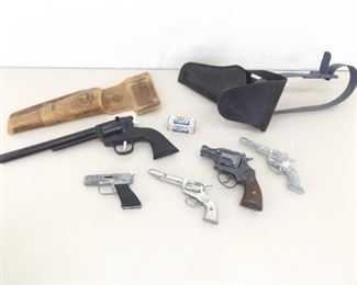 Lot of Vintage Cap Guns