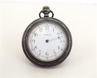 Antique Sterling Silver Waltham Pocket Watch Serial #10178041