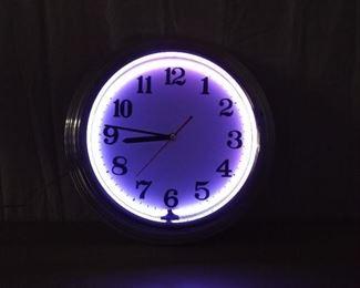 WORKING Multi Color Neon Wall Clock