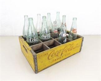 Vintage Wood Large Bottle Coca Cola Coke Crate