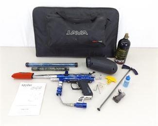 Spyder e99 Paintball Gun Kit in case