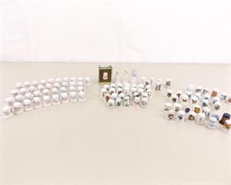 Large Collection of Porcelain Thimbles