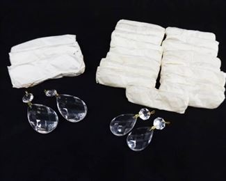 8 Large, and 36 Medium Faceted Crystal Dangle Replacement Pieces